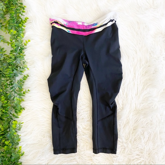 lululemon athletica Pants - Lululemon Black Cropped Yoga Pants